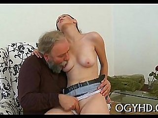 Old old fart trample young beauty