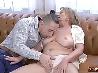 Going to bed a sexy granny