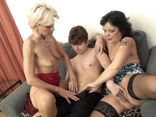 Slutty matures are sharing a horny person and having a blast while getting fucked hard